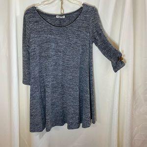 Inspirer heart gray dress large